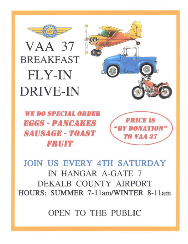 VAA 37 Monthly Breakfast